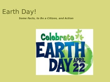 Earth Day Presentation and Handout