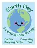Earth Day Pretend Play Props - Dramatic Play Recycling Compost Garden Pond