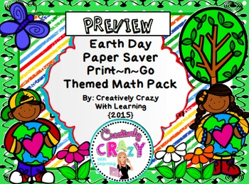 Earth Day Print & Go Math Activities for Assessments, Re-Teach, and Test Prep