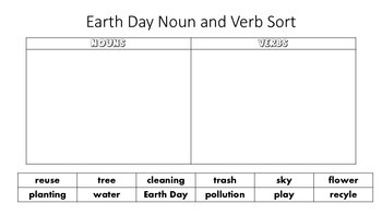 Earth Day Print and Go Reading,ELA,Writing,Math