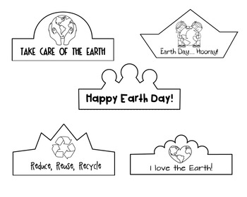 Earth Day Printable Crowns