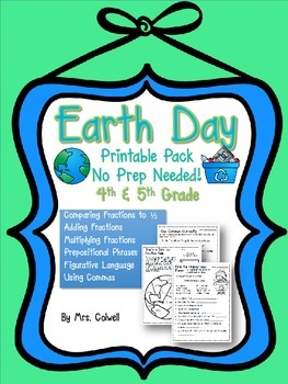 Earth Day Printable Pack Teaching Resources Teachers Pay Teachers