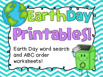 Earth Day Printables! (Word Search and ABC Order)