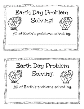 Earth Day Problem Solving!