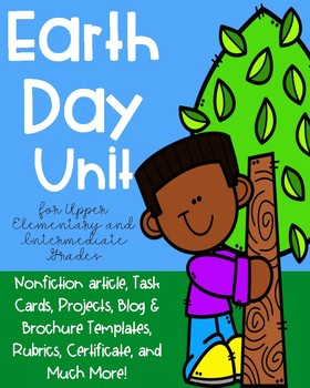 Earth Day Project for Upper Elementary and Intermediate Grades