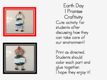 Earth Day Promise Craftivity