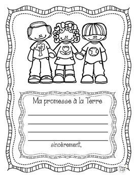 Earth Day Promise ~ French