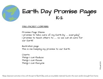 Earth Day Promise Pages