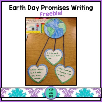 Earth Day Promises: a writing activity freebie
