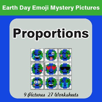 Earth Day Emoji: Proportions - Color-By-Number Mystery Pictures