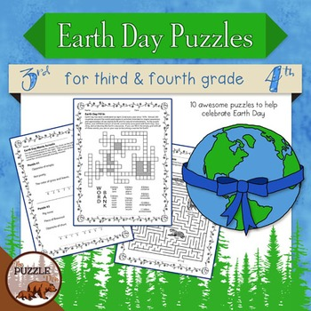 Earth Day Puzzle Pack for Grade 3 and 4