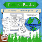 Earth Day Puzzle Pack for Grades 1 and 2