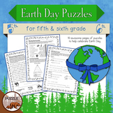 Earth Day Puzzle Pack for Grades 5 and 6