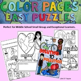 Earth Day Puzzle and Color Sheet