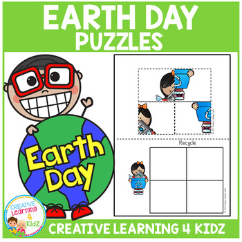 Cut and Paste Fine Motor Puzzles: Earth Day