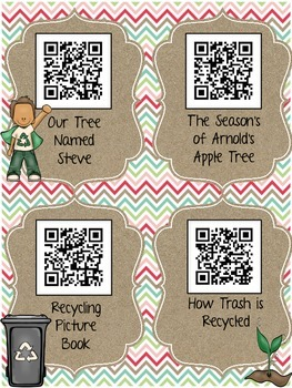 Earth Day QR Codes: 16 Stories and Songs for Daily Five Listen to Reading