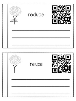 Earth Day QR Vocabulary Book