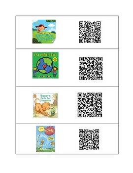 Earth Day QR code listening Centers