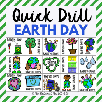 Earth Day Quick Drill {for articulation or fluency drill & RtI}