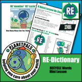 Earth Day REWords REcycle Lesson Activity Environment Fun