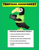 The Great Kapok Tree- The Rain Forest Animal Project-K-3- Writing Prompt