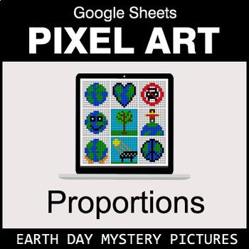 Earth Day - Ratios & Proportions - Google Sheets Pixel Art