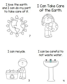 Earth Day Read and Color Booklet