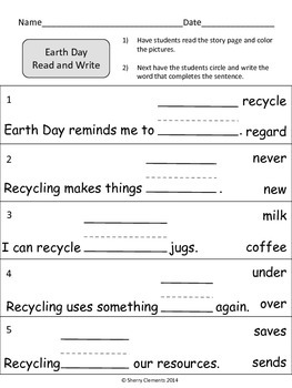 Earth Day Read and Write