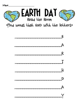 Earth Day Read the Room Ending Sounds