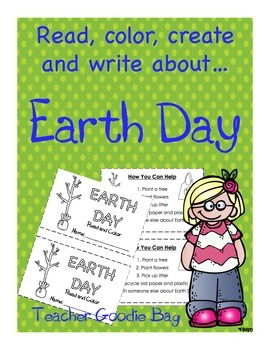 Earth Day {Read,Color, Write and Create}