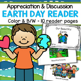 Earth Day Reader Booklet - Discussion, Appreciation of our Planet, Use all Year