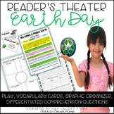 Earth Day Reader's Theater: Vocab. cards, comprehension, &