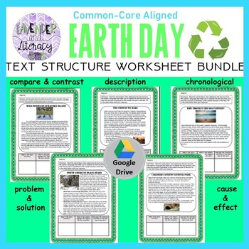 Digital Text Structure Worksheet Bundle