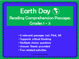 Ecology/ The environment / Earth Day Reading Comprehension Grades 1-3