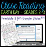 Earth Day Reading Comprehension Nonfiction Grades 2-3