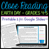 Earth Day Reading Comprehension Nonfiction Grades 4-5
