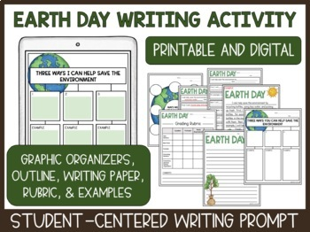 Earth Day Reading Comprehension and Writing Activities Bundle