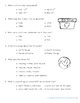Earth Day Reading Comprehension with Writing Extension Third Grade
