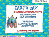 Earth Day Reading Informational Texts Common Core Assessments