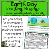 Earth Day Reading Passage- Digital and Printable Version