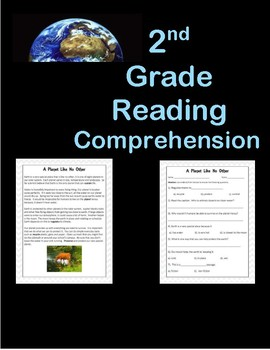 Text Features Reading Comprehension Earth