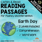Reading Passages for Intervention with Comprehension and Audio (Earth Day)