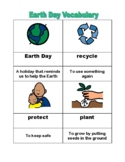 Earth Day Reading Unit, special ed; Boardmaker; vocabulary