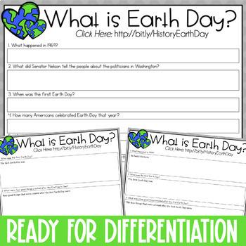 Earth Day Reading & Writing Activity {Webquest, Brochure, & Bulletin Board}