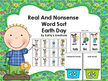 Real And Nonsense Word Sort Earth Day