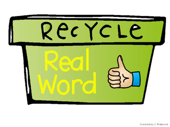 Earth Day Real vs. Nonsense Word Sort Center