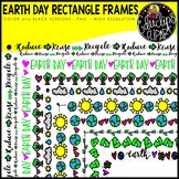 Earth Day Rectangle Page Frames Bundle {Educlips Clipart}