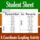 Earth Day - Recycle Cycle - A Coordinate Graphing Activity