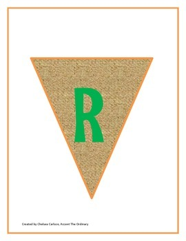Earth Day Recycling Bunting Banner