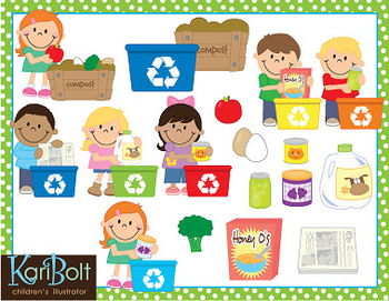 Earth Day, Recycling Clip Art